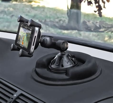 ram cell phone suction cup car mount  friction dashboard base fits iphone   ebay