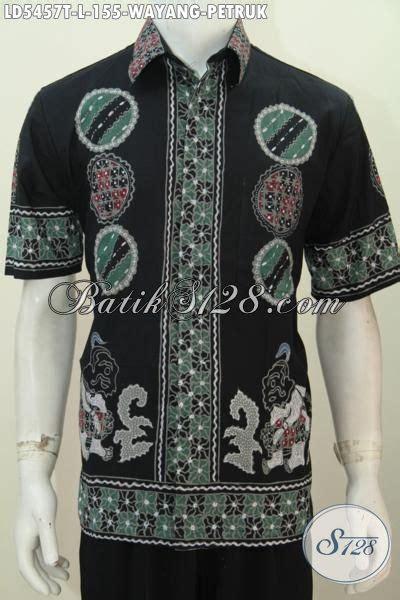 desain baju batik gaul kemeja batik tulis motif petruk dasar hitam desain keren