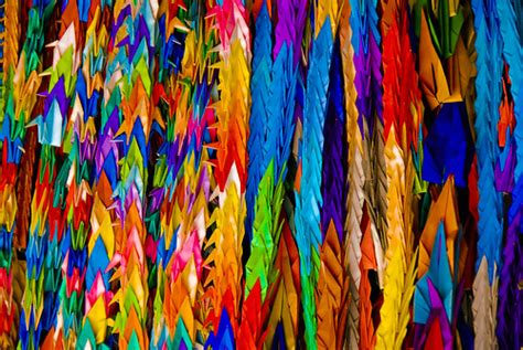 peace colors colors for peace this endless number of origami cranes