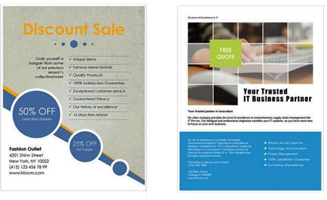 word flyer template free microsoft office report template