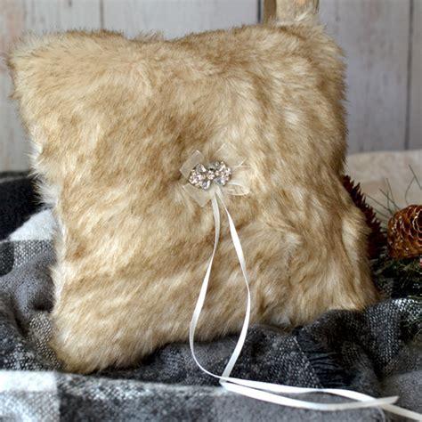 Fox Fur Pillow by Faux Fox Fur Ring Bearer Pillow