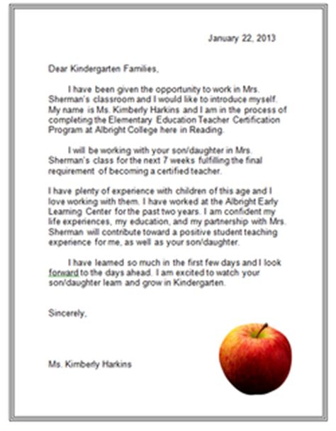 Introduction Letter To Kindergarten Students Principle 6 Harkins Portfolio