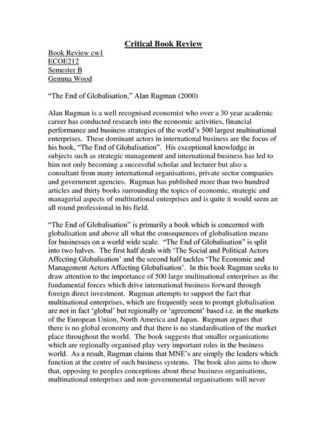 Novel Essays by Sle Critical Book Review Paper Biography Book Report Ideas For Middle School
