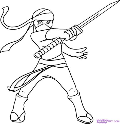 ninja colouring pages kids coloring europe travel