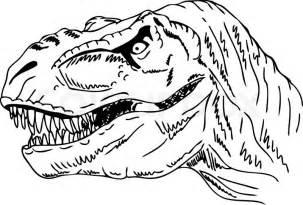 vector contour head dinosaur isolated background vector colourbox