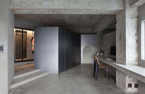 concrete floor apartment interior design a concrete apartment