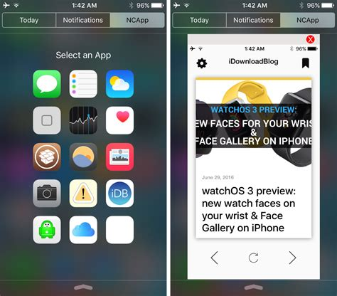 jailbreak best apps ncapps lets you launch apps inside notification center
