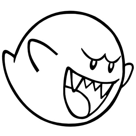 mario ghost coloring pages boo mario coloring pages