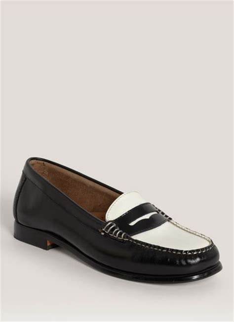 bass wayfarer loafer bass wayfarer twotone loafers in black lyst