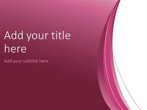 free pink ribbon powerpoint template free purple