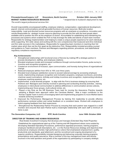 hr business partner resume sle sle resume for human resources manager resume sle