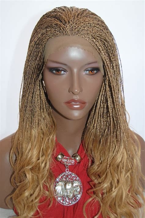sheba braided full lace wig braided lace front wig micro braids color 27 4 in 17