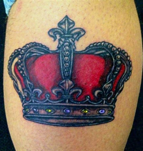 red crown tattoo royal crown with royal color crowntattoo