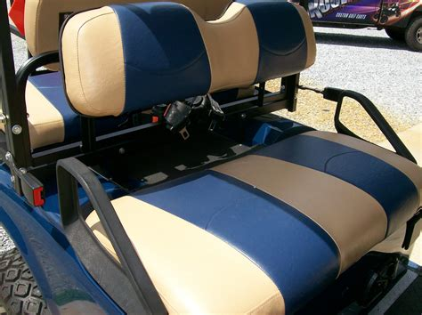 Golf Cart Upholstery by Totally And Navy Blue Striped Deluxe 226 162 Golf Cart Seat