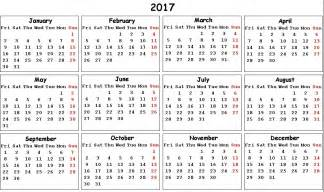 Calendar Printable 2017 With Holidays 2017 Calendar With Holidays Us Uk Canada Free