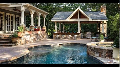 backyard designs with pool and outdoor kitchen backyard designs with pool and outdoor kitchen