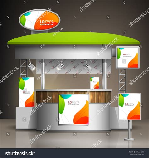 Exhibition Stand Design Template white creative exhibition stand design color stock vector