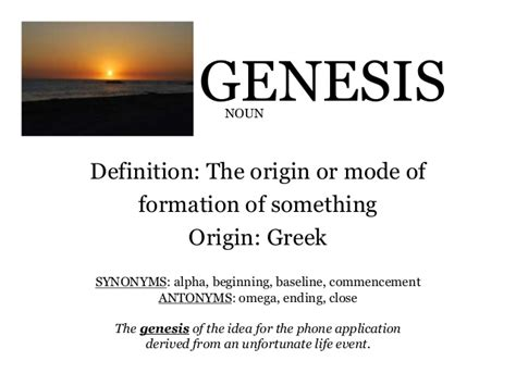 definition of genesis wow 14 15