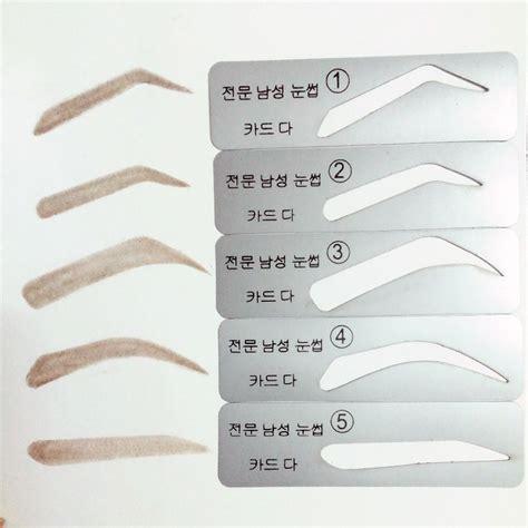 free printable eyebrow stencils pdf plantillas de cejas plantillas de cejas 5 tipos para