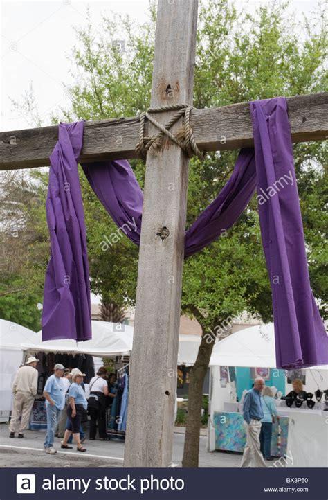 Cross With Purple Cloth Stock Photos Amp Cross With Purple