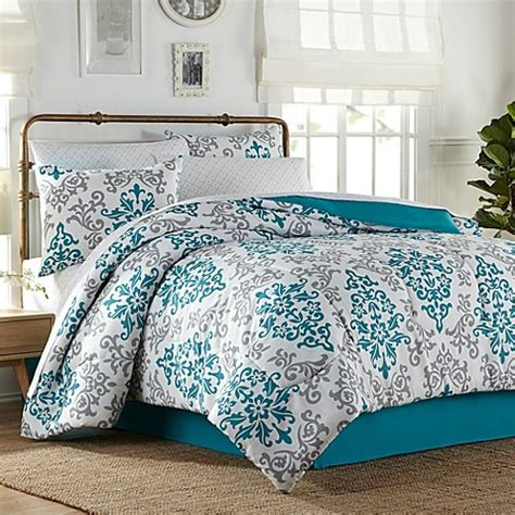 bed bath and beyond white comforter carina 6 8 piece comforter set in turquoise bed bath beyond