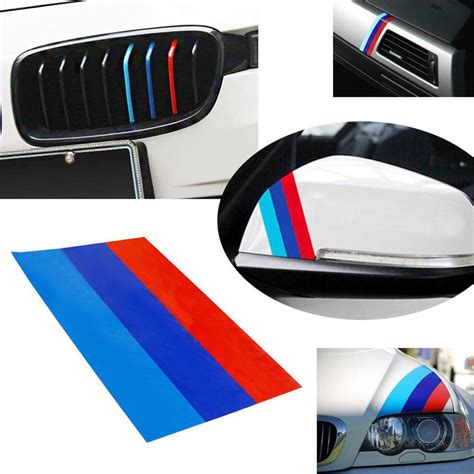 Car Interior Stickers by 1 10 Quot M Colored Stripe Car Stickers Decal For Bmw