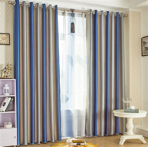 Striped Blackout Curtains Blue Striped Blackout Lines And Thermal Curtains Uk