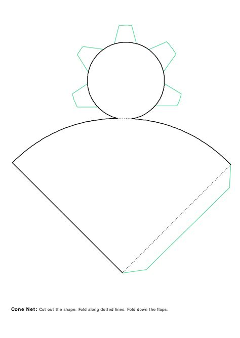 cutout template cone cut out template pictures to pin on pinsdaddy