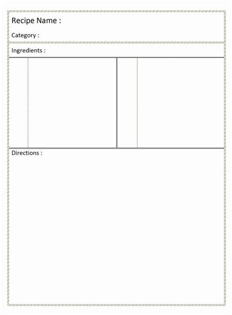 Recipe Card Template Word by Page Recipe Template For Word Shatterlion Info