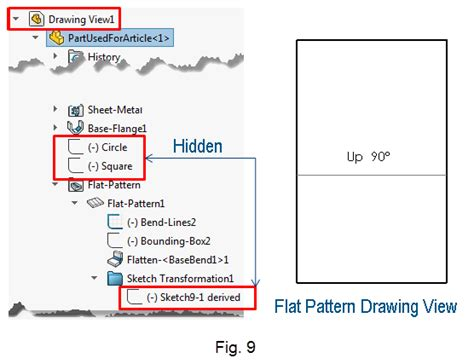 solidworks flat pattern drawing view understanding sheet metal and transformed sketches and how