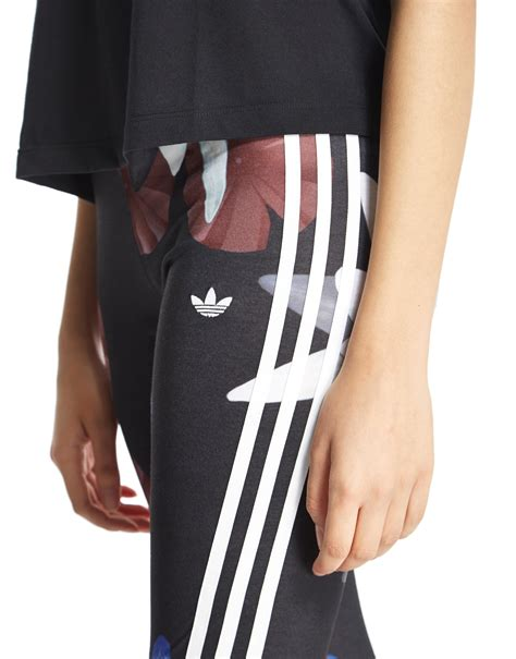 Adidas Flower Fastival Suitshirt Hoodie And Legging Print Compression lyst adidas originals lotus print in black