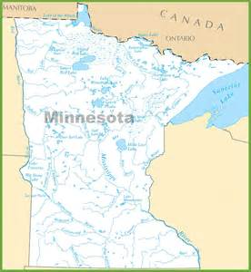 map of lakes minnesota lakes map