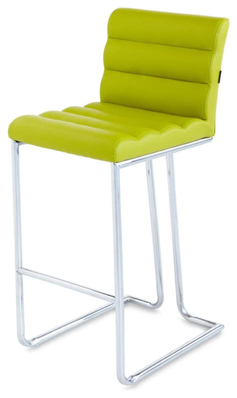 Lime Green Bar Stool Bar Stool With Metal Base Green Contemporary Bar Stools And Counter Stools By Zuri