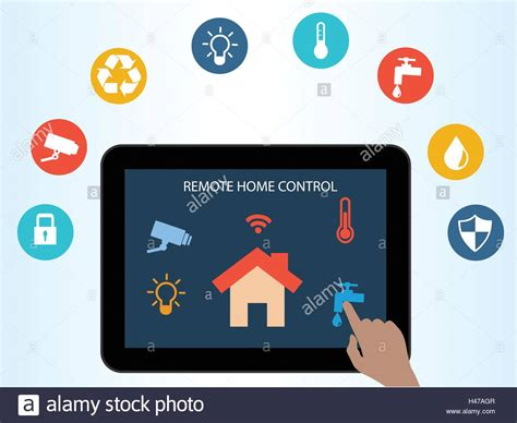 smart home automation technology infographics stock vector concept of smart house technology remote home control