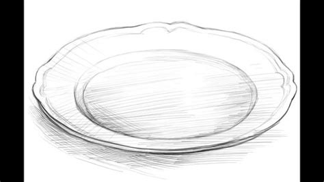 Plate Drawing how to draw a plate