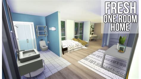 1 Room House by Sims 4 How To Build One Room Home Youtube