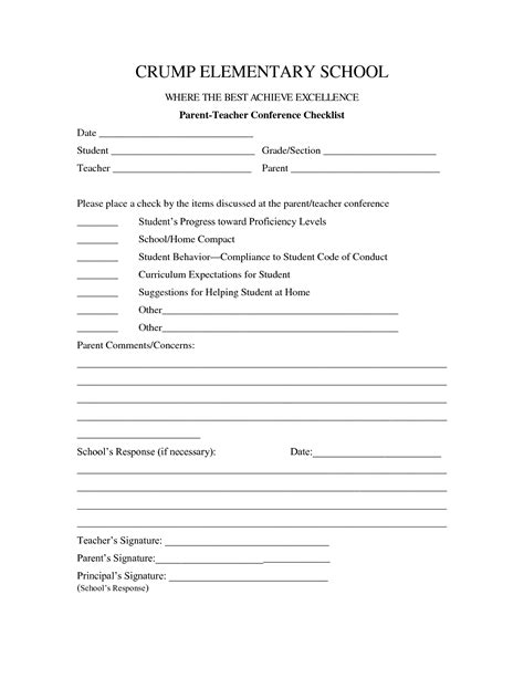 parent teacher conference form template mhrijgdo parent teacher