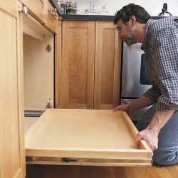 How To Install Drawers In Cabinets How To Install A Pull Out Kitchen Shelf Sliding Shelves