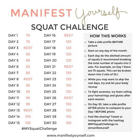 big booty squat challenge my 30 day squat challenge manifest yourself