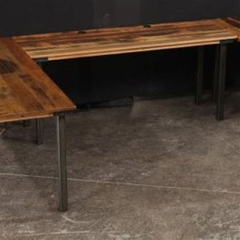 custom made computer desks reclaimed wood by corl