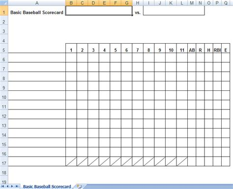 baseball box score template baseball box scores excel template baseball score sheets