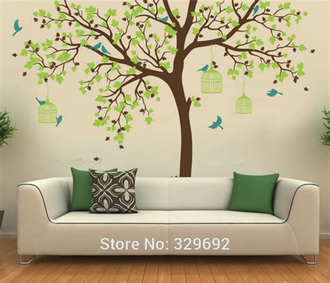 removable nursery wall stickers bird cage tree nursery wall stickers removable tree wall