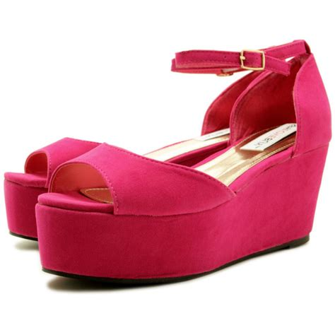 flatform platform wedge heel peep toe shoe sandals