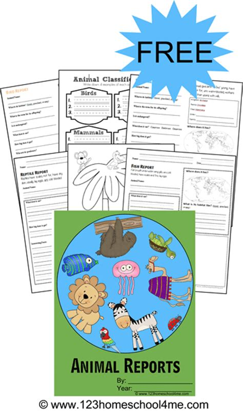 Free Printable Animal Report Forms Free Animal Report Template
