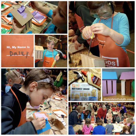 building butterfly houses at a home depot workshop