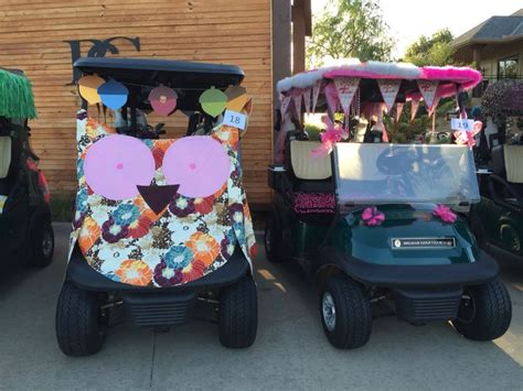 Golf Carts Decorated For by Golf Cart Decor Rally For The Cure 2015