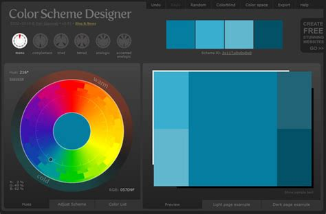 web page color scheme website color scheme generator