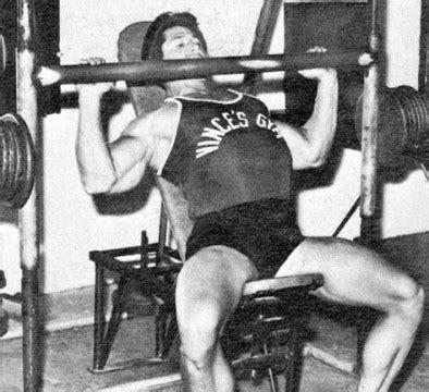 steve reeves bench press don howarth and vince gironda iron guru