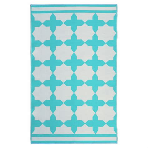 eco chic rugs zagora turquoise outdoor rug temple webster