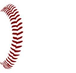 red softball laces 1 clip art at clker.com vector clip